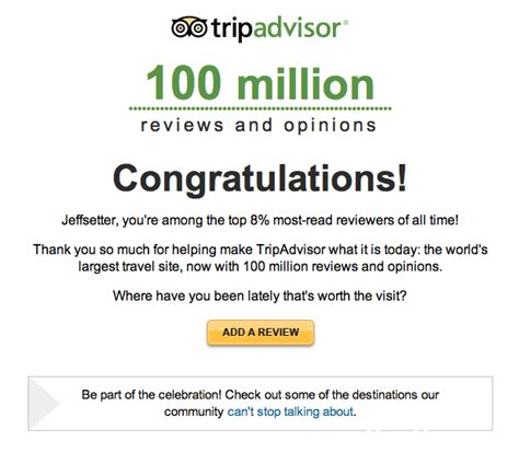 jeffsetter is among tripadvisor top reviewers but how
