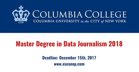 Mba Ms Journalism by Master In Data Journalism And Master Of At Columbia