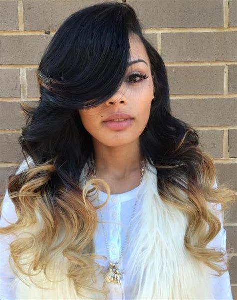 sew hot 40 gorgeous sew in hairstyles middle hair best pictures sew weave hairstyles ideas styles ideas