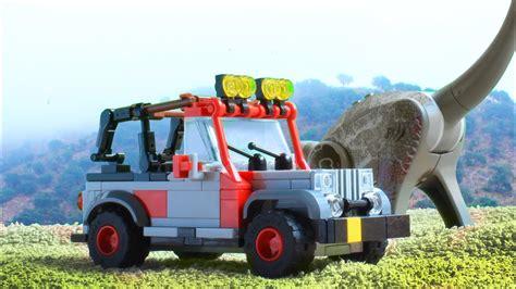 lego jurassic park jeep lego jeep wrangler from jurassic park moc