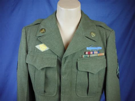 Ribbon Blazer Htm antiques and museum uwu 0135 wwii us army enlisted ike jacket with soldiers medal