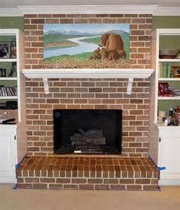 how to paint over brick fireplace brick anew blog