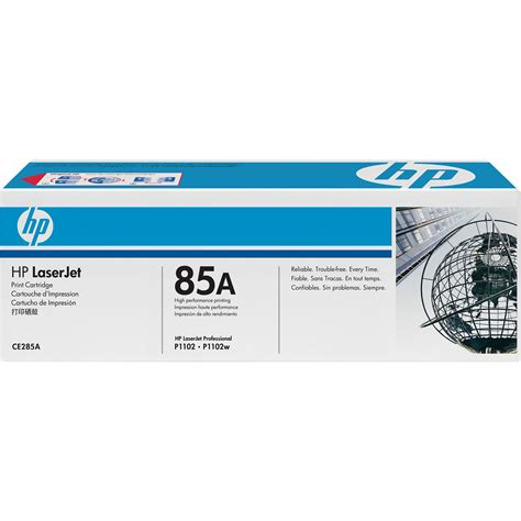 Toner Laserjet 85a hp 85a laserjet black print cartridge ce285a b h photo
