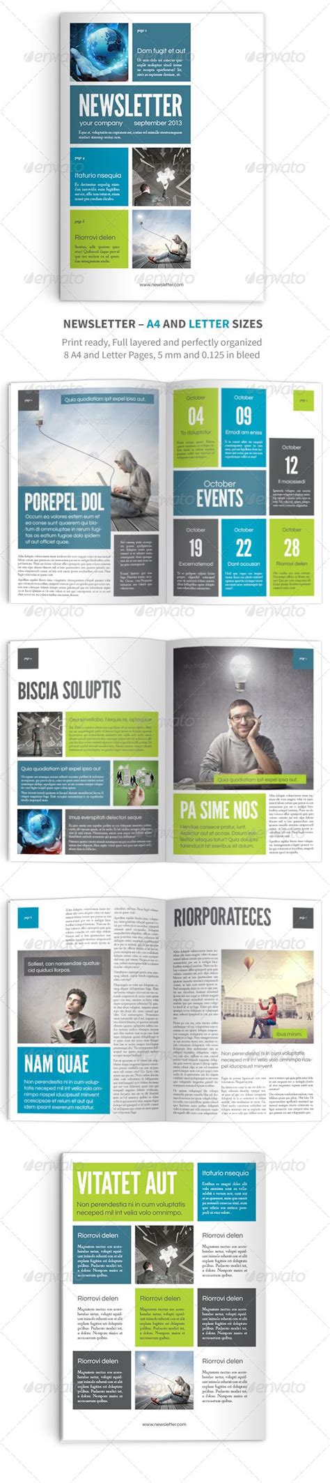 adobe indesign newsletter template newsletter vol 9 indesign template graphicriver