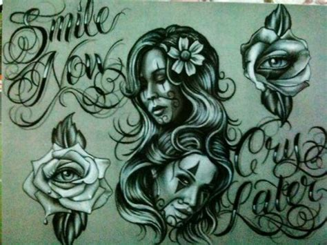 smile now cry later tattoos designs smile now cry later payasa payaso smile