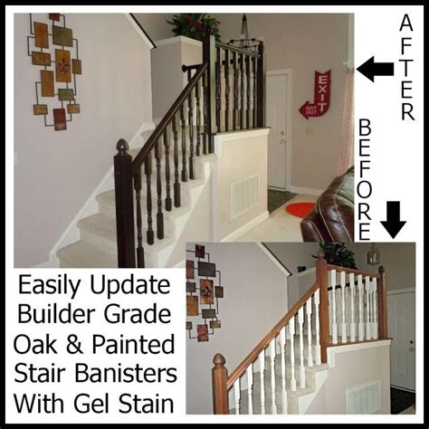how to paint a banister updating a builder grade oak painted banister with gel