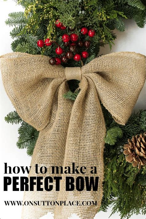 how to place burlap bow and burlap streamers on christmas tree best 25 burlap bow tutorial ideas on wreath bows diy bow and diy bow