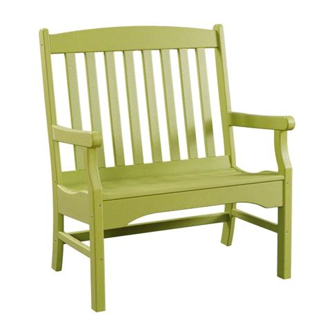 3 foot outdoor bench sunnyside 3 poly garden bench pa amish made poly