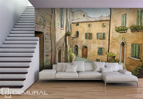 Wall Murals Living Room by A Siesta In A Living Room Streets Wallpaper Mural