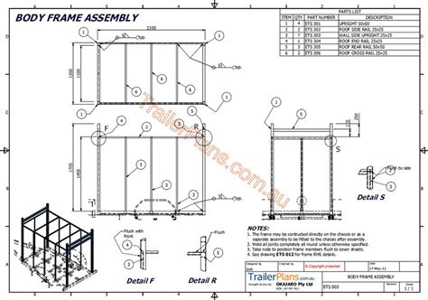 Enclosed Trailer Plan Drawings Assembly Guide Pictures Building Plans For Utility Trailers