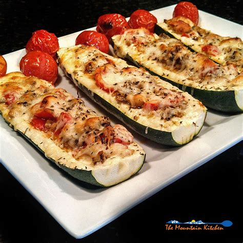 roasted zucchini boat recipes italian zucchini boats the mountain kitchen