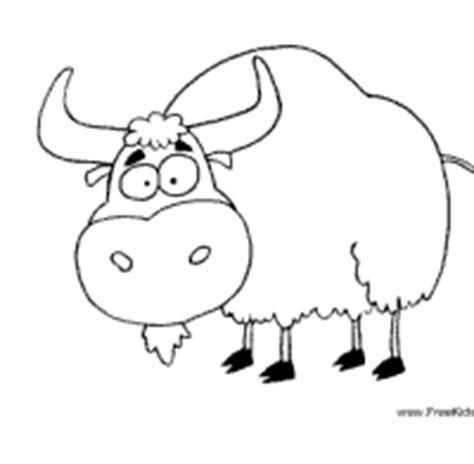 coloring page of a yak yak 187 coloring pages 187 surfnetkids