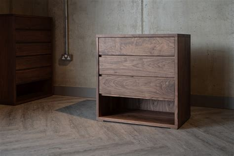 walnut bedroom drawers black lotus cube solid walnut chest of drawers
