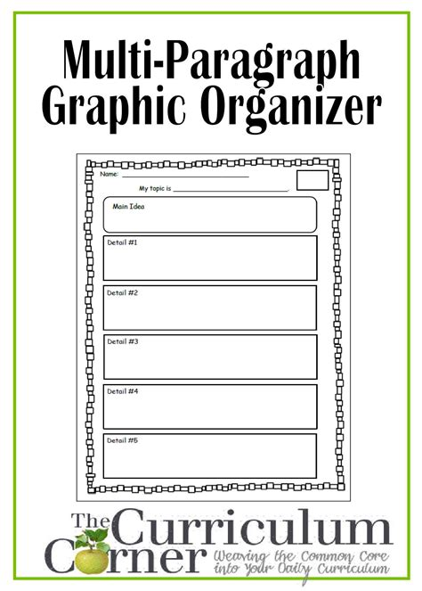 How To Make A Graphic Organizer On Paper - graphic organizer for multi paragraph research papers