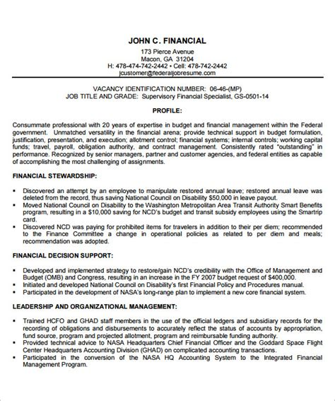 7 Federal Resume Template Word Pdf Free Premium Templates Federal Government Resume Template