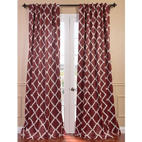 blackout curtains pair exclusive fabrics trellise print blackout curtain panel