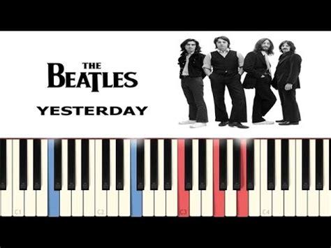 tutorial piano beatles yesterday beatles piano tutorial funnydog tv