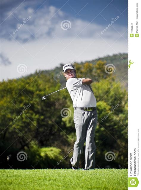 miguel angel jimenez golf swing miguel angel jimenez editorial stock photo image 18398873