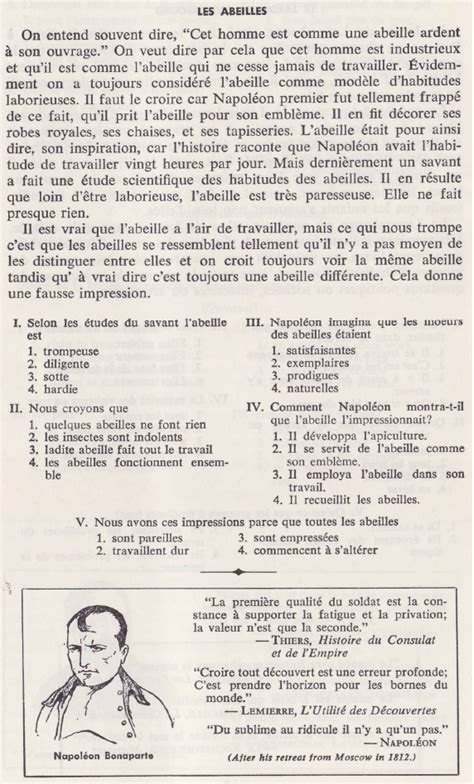 reading comprehension test in french practice reading a2