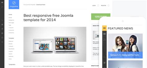 free joomla templates for blogger magazine free joomla template by gavickpro