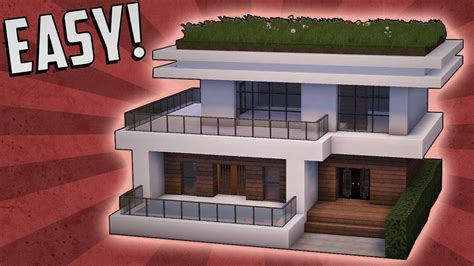 how to build a modern house in minecraft pe minecraft how to build a small modern house tutorial 15