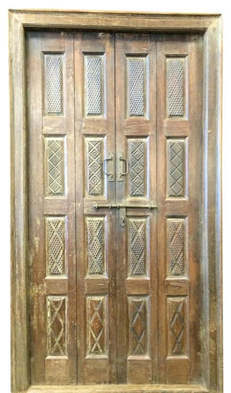 Carved Interior Doors Mogul Interior Consigned Indian Door Carved Teak