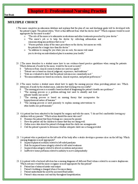 recovery room guidelines test bank 222 nursing patient