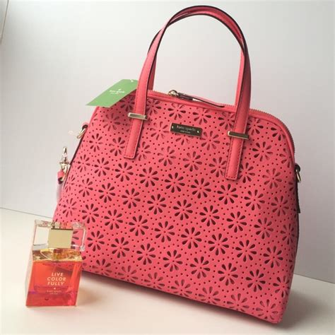 Kate Spade Maise Cedar Perforated Satch Bag 36 kate spade handbags new kate spade maise cedar