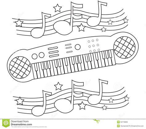 coloring page keyboard keyboard coloring page stock illustration image 52718660