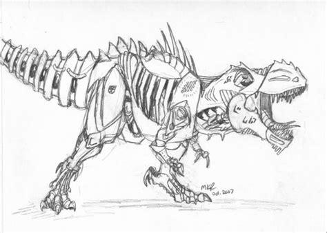Transformer Grimlock Coloring Sketch Coloring Page Grimlock Coloring Page