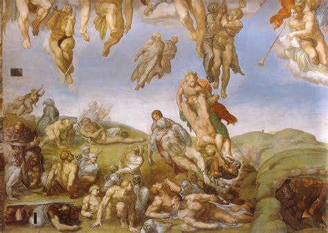 michelangelo giudizio universale dettagli ascesa dei beati the michelangelo giudizio universale dettagli 35 monastero