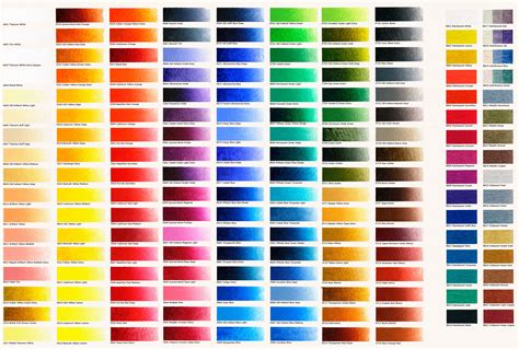 new masters classic acrylics colour chart classic colours