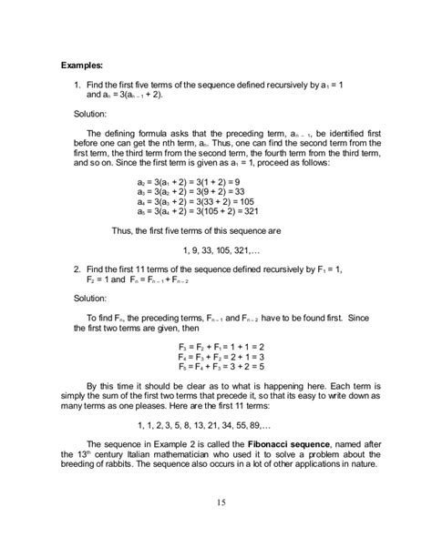recursive pattern exles grade 6 grade 10 math module 1 searching for patterns sequence