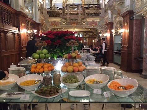 brunch buffet new york beginning of buffet table for breakfast at cafe new york in the boscolo hotel budapest hungary