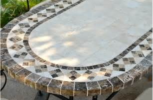 Mosaic Rectangular Table Top » Home Design 2017
