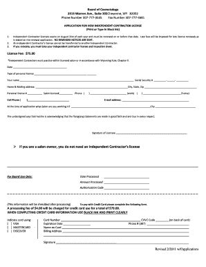 Independent Contractor Application Fill Online Printable Fillable Blank Pdffiller Free Salon Application Template