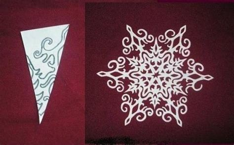 How To Make Awesome Paper Snowflakes - how to make paper snowflake flowers free template