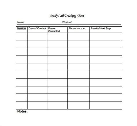 blank call sheet template sheet call tracker spreadsheet