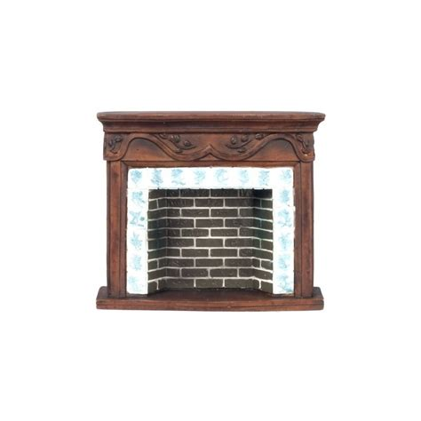 dollhouse fireplace brown resin fireplace mantle dollhouse miniature