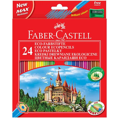 Pencil Warna Faber Castell 24 Warna Water Colour faber castell eco colouring pencils box of 24 free sharpener cult pens