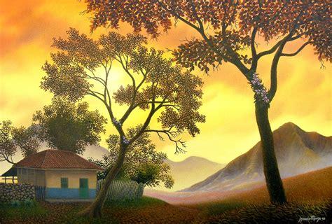 imagenes de paisajes pintados al oleo im 225 genes arte pinturas paisajes puntillismo