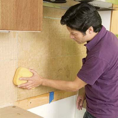 saturate the paper how to install a glass mosaic tile