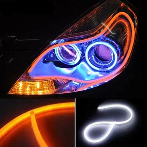 Car Led Lights Strips Aliexpress Buy Daytime Running Lights Car Led Turn Signal Headlight Switchback