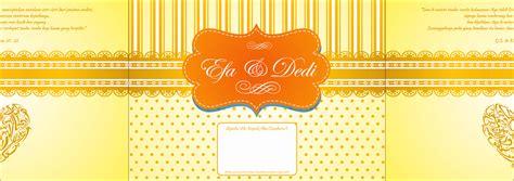 desain undangan pernikahan lipat 2 mataroni jasa desain undangan pernikahan