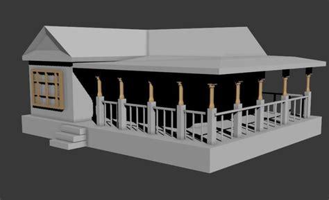 Model Simple Simple House 3d Model Cgtrader