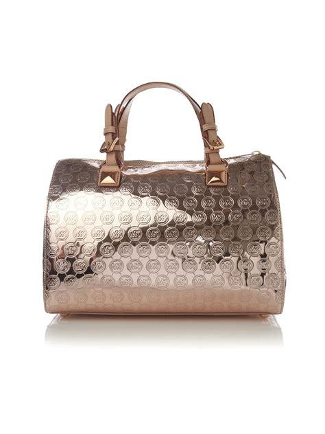 Gryson Shoulder Bag 2 by Michael Michael Kors Grayson Mirror Monogram Bowler Bag In