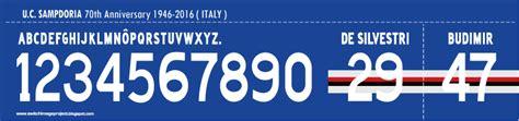 Custom Name Polyflex Font Juventus 1999 font special sdoria 70th anniversary 1946 2016 timix patch timix patch