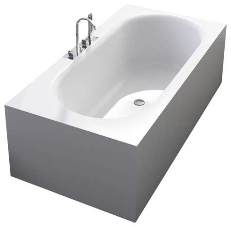 stand bathtub adm matte white stand alone resin bathtub modern