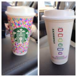 decorate a reusable starbucks cup with sharpies