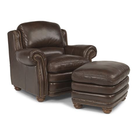 leather chair and ottoman flexsteel 1473 10 08 hamlin leather chair and ottoman